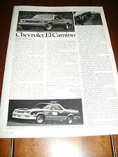 1984 CHEVROLET EL CAMINO - ORIGINAL ARTICLE
