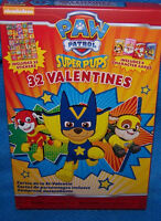 Valentines Day Cards (Box of 32) Nickelodeon Paw Patrol Super Pups w/ Stickers