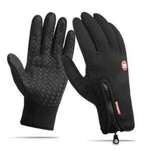 Bike Gloves Winter Thermal Touch Screen Support Non Slip Full Finger Cover MTB
