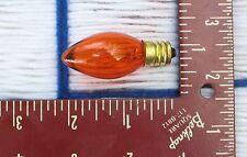 BOX of 25} TWINKLE orange AMBER 5w blinking flashing CHRISTMAS LIGHT bulb C7 NEW