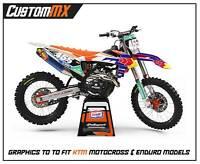 CustomMX - Graphics Kit: Fits KTM SX SXF EXC 85 125 150 250 300 350 450 models