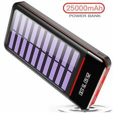 25000mAH Portable Phone Charger Solar Power Bank External Battery New