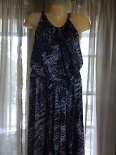 Women's Lane Bryant Shiny Reptile Print Maxi Dress - size 22-24