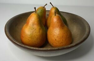 """Beautiful PEARS Set of 4 Artificial Faux 4 1/2"""" Tall Colorful Full Size"""