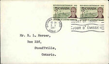 1962 Ottawa CANADA Day of Issue Cover Briefmarke Red River Settlement anno 1812