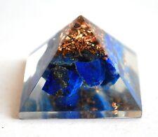 Reiki Energía cargado Lapis Lazuli Orgón Pirámide potente generador de energía De Regalo
