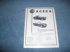 """1956 AC Aceca Ace Vintage Ad """"The Safest Fast Car in the World"""""""
