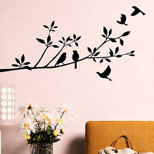 Large Removable Vinyl Art Wall Sticker Tree Branch Birds Mural Decal Home