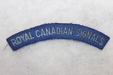 Original WW2 Royal Canadian Signals Cloth Uniform Flash (Patch)