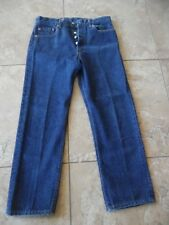 Vtg Levis 501xx Dark Blue Button Fly Jeans Size 35x31 Made In USA meas 31x28
