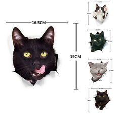 3D 5 Kinds of Funny Cute Cat Side car stickers Vinyl Car Body Wall Window j$