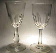VICTORIAN   CORDIAL / DRAM  CUT  GLASS X 2