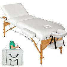 Massagetisch Massageliege Massagebank 10cm reine Polsterung weiß + Tasche