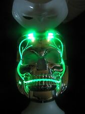 LED LIGHT UP SKULL MASK 6 DIFFERENT MODES TWO FACES WHITE OUT OR SKULL El Wire