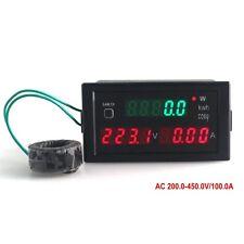 AC 100A 200-450V 220V Digital LED Voltmeter Ammeter Wattmeter Volt Amp kwh Meter