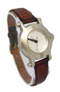 *Rare* Ladies Boy London Ship Porthole Brown  Leather Strap Watch 1990s A15