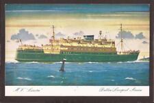 "Dublin Liverpool Service. Ferry M.V.""Leinster""."