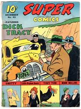 SUPER COMICS #43 1941 DELL COVER ONLY Dick Tracy RED RYDER Daisy BB Gun Ad