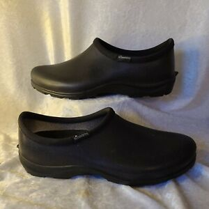 Sloggers Mens 11 Black Rubber Insole Clogs. Garden Rain Shoes