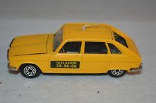 Norev Renault 16 TX Jet-car yellow Taxi Radio 1:43 very near mint condition