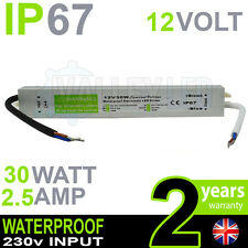 IP67 12V DC 30w 2.5A 230v Waterproof Power Supply for LED Driver Strip CCTV