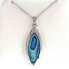 Paua Jewelry - Pd Plated Necklace (PO836)