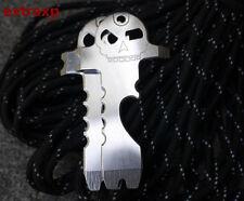 EDC Skull Bottle Opener Screwdriver Scraper Key Chain Pocket Multi Tools Outdoor