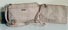 NEW! TOMMY HILFIGER BLUSH PINK CROSSBODY SLING BAG W/ WALLET POUCH $75 SALE
