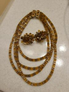 Vintage Vogue Necklace and Earrings Set