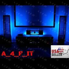 LED Accent Lighting Kit Home Theater TV Backlight Kit Strip Lights Power Adapter
