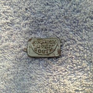 Tin Tobacco Tag - SOUTH MOON - Southern Related