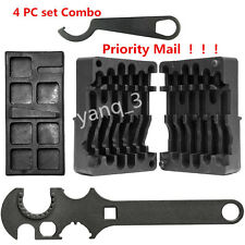 NEW 4PC Set M4/AR15 223 556 Upper Lower Vise Block Wrench Armorer's Tool Kit