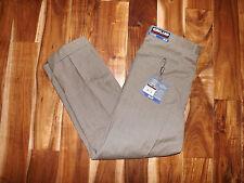 NWT KIRKLAND SIGNATURE  Wool Tan Fancy Pleated Dress Pants Slacks 32 X 32