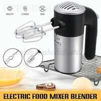 5 Speeds 300W High Power Electric Food Mixer Hand Blender Dough Blender Egg