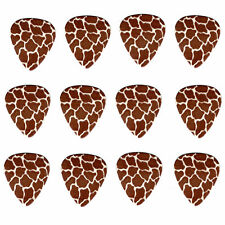 12 Pack GIRAFFE ANIMAL PATTERN Medium Gauge 351 Guitar Picks Plectrum Celluloid