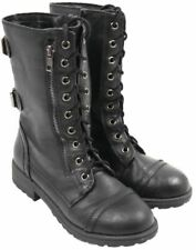 NEW GIRLS YOUTH SODA NAST BLACK Ankle Lace up Wedge  Boots Shoes SZ 11