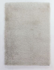 Thick Silky Shiny Shimmer Shaggy Rug in Duckegg Silver Grey Pink Caramel Natural