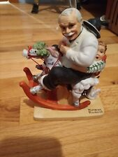 The 12 Norman Rockwell Porcelain Figurines Gramps at the Reins 1980 Danbury Mint