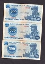 Angola 500 Kwanzas P-116 1979  F  x 3