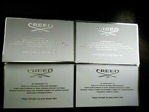 Creed Aventus For Her and Green Irish Tweed 4 New Samples, 100% Authentic
