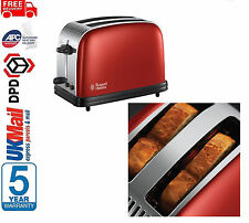**BRAND NEW** Russell Hobbs 23330 Colours Plus 2-Slice Toaster, Red