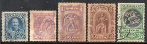 Crete: 1901 vals ex SG 15-19 used/unused