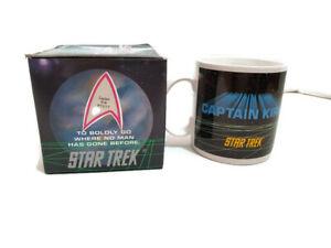 Star Trek Coffee Cup Ceramic Mug Captain James Tiberius Kirk Enterprise NCC 1701