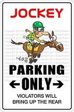 "*Aluminum* Jockey Parking Only 8""x12"" Metal Novelty Sign  NS 374"
