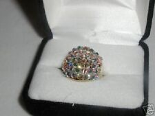 AURORA BOREALIS AB AUSTRIAN CRYSTAL DOME BAND RING 5  SALE!!!