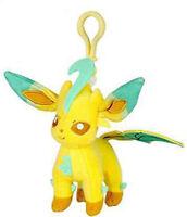 Pokemon 3'' Leafeon Eevolution Plush Bag Clip Key Chain NEW