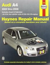 Haynes AUDI A4 B6 B7 (02-08) AVANT CABRIOLET Owners Service Manual Handbook Book