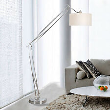 "Architect Contemporary 86"" Arched Floor Lamp, White"