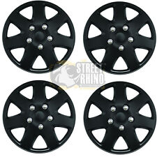 "Smart Roadster 16"" Stylish Black Tempest Wheel Cover Hub Caps x4"