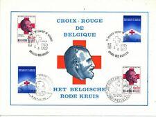 TIMBRE STAMP ZEGEL FDC BELGIQUE CROIX ROUGE RED CROSS ROODE KRUIS 1977
